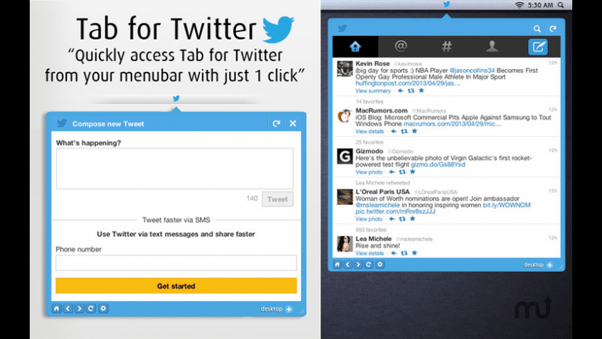 Tab for Twitter for Mac - review, screenshots