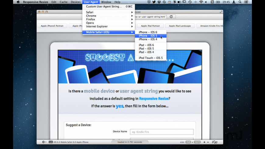 Responsive Resize for Mac - review, screenshots