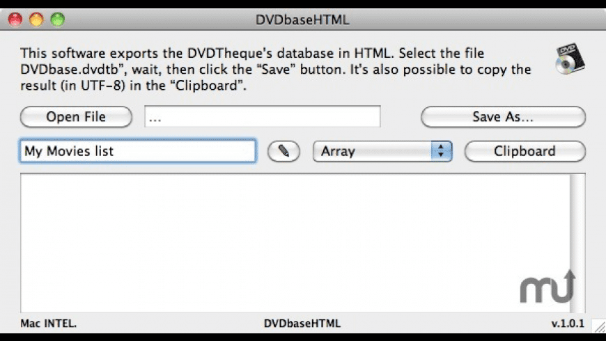 DVDbaseHTML for Mac - review, screenshots