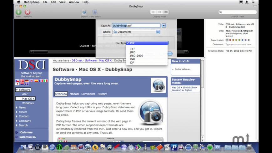 DubbySnap for Mac - review, screenshots