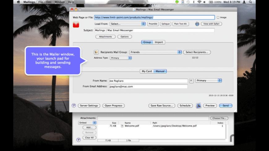 Mailings Lite for Mac - review, screenshots