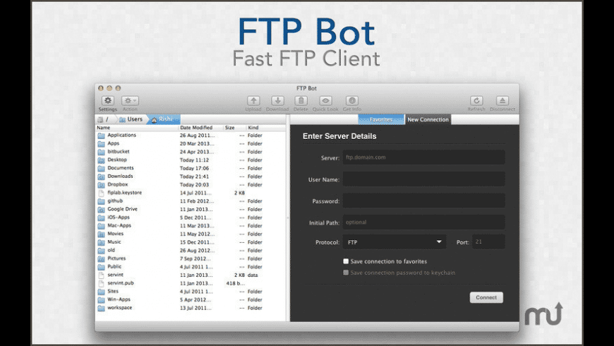 FTP Bot for Mac - review, screenshots