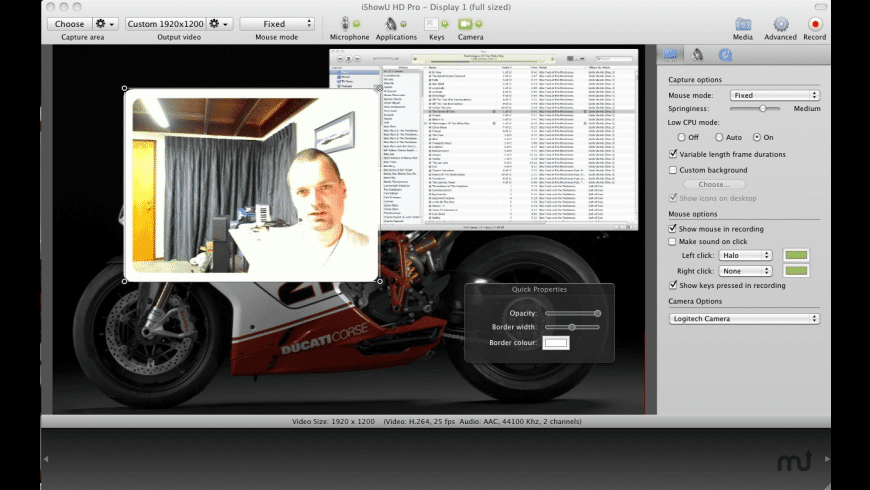 iShowU HD for Mac - review, screenshots