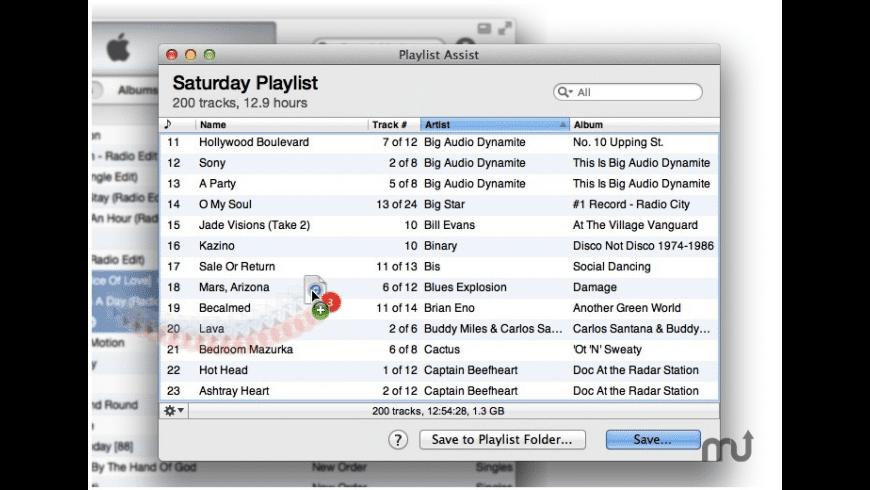 Playlist Assist for Mac - review, screenshots