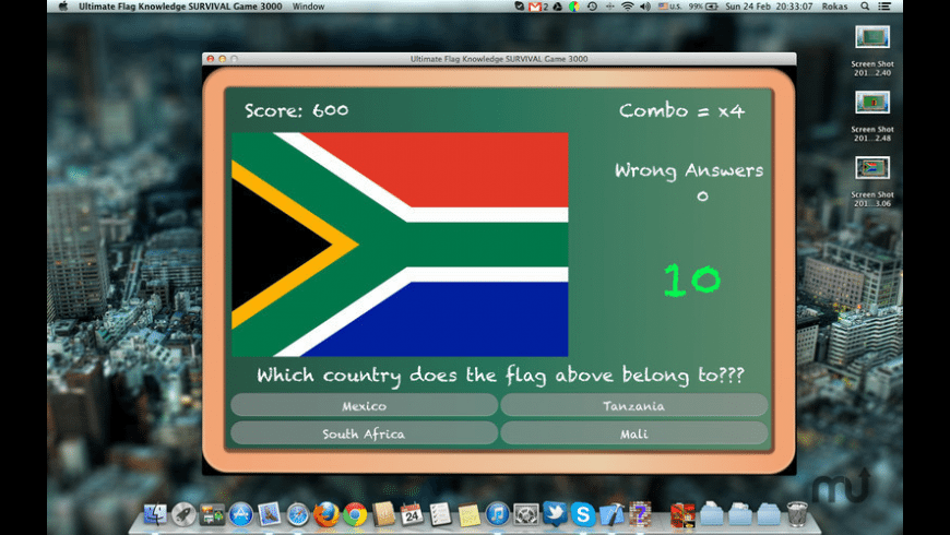 Ultimate Flag Knowledge SURVIVAL Game 3000 for Mac - review, screenshots