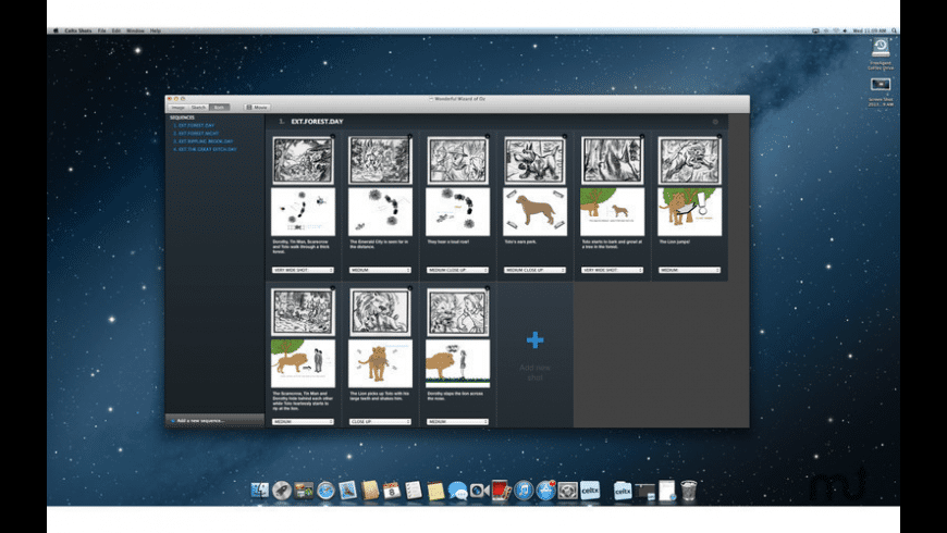 Celtx Shots for Mac - review, screenshots