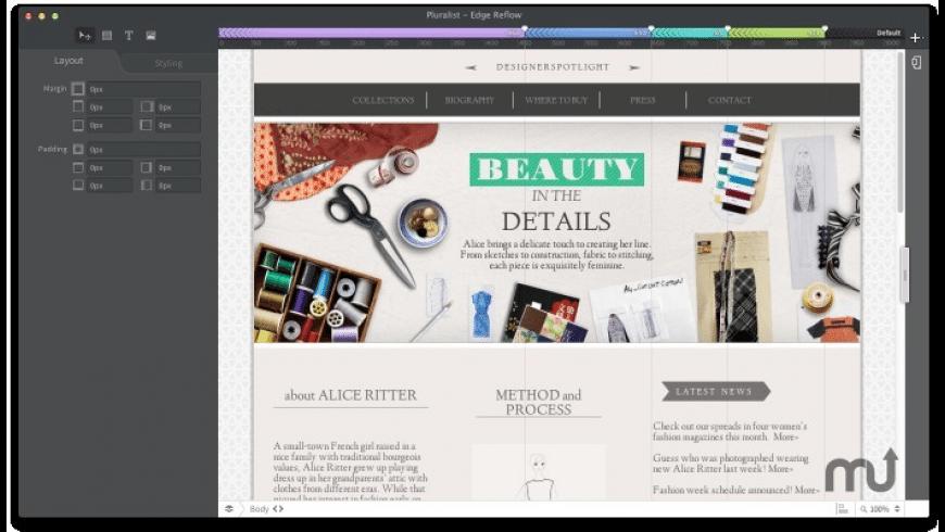 Adobe Edge Reflow CC for Mac - review, screenshots