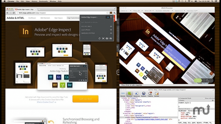 Adobe Edge Inspect CC for Mac - review, screenshots