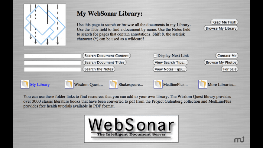 WebSonar for Mac - review, screenshots