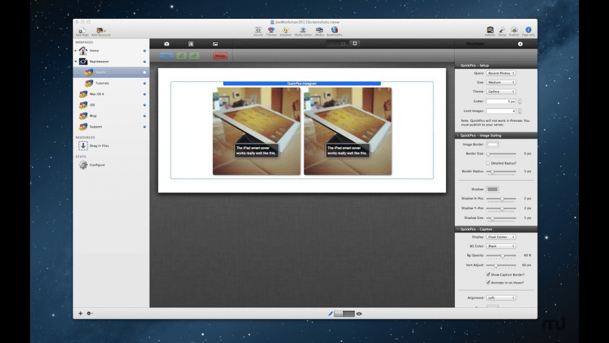 QuickPics Instagram Stack for Mac - review, screenshots
