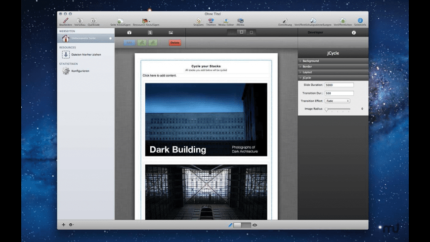 jCycle Stack for Mac - review, screenshots