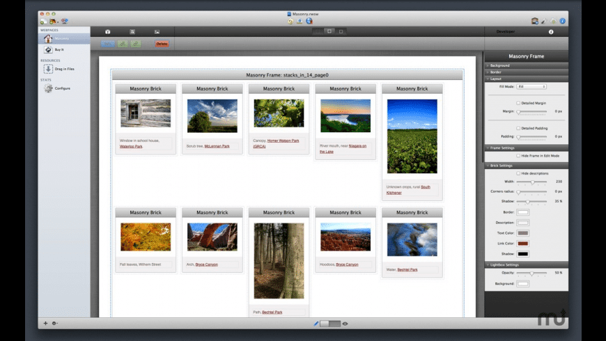 Masonry Stack for Mac - review, screenshots