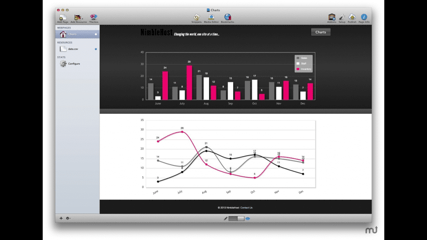 Charts Stack for Mac - review, screenshots