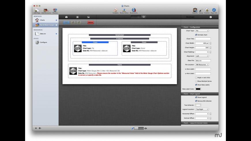 Charts Stack for Mac - review, screenshots