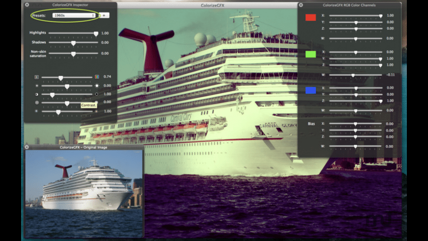 ColorizeGFX for Mac - review, screenshots