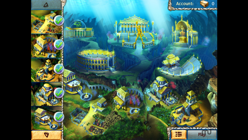 Jewel Legends Atlantis for Mac - review, screenshots