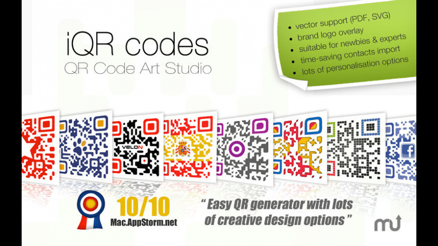 iQR codes for Mac - review, screenshots