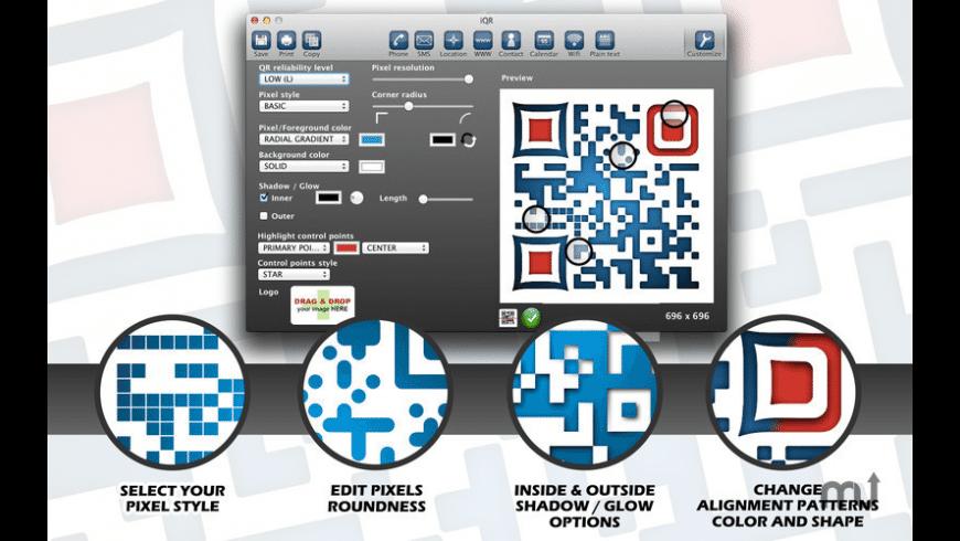 iQR codes for Mac - review, screenshots