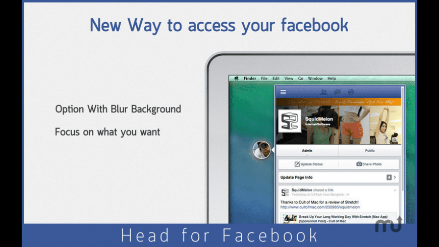 Head for Facebook for Mac - review, screenshots