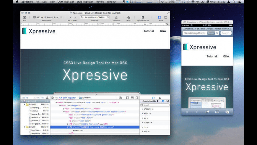Xpressive for Mac - review, screenshots