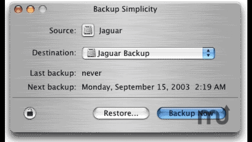 Backup Simplicity for Mac - review, screenshots