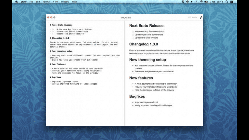 Erato for Mac - review, screenshots