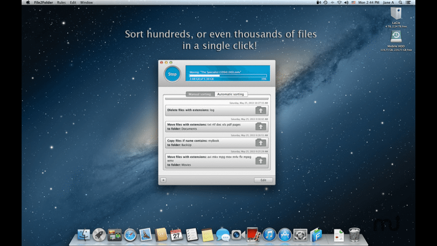 File2Folder for Mac - review, screenshots