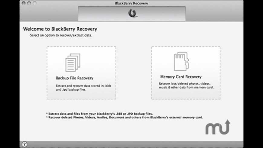 BlackBerry Recovery for Mac - review, screenshots