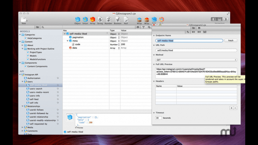 Cocoa JSON Editor for Mac - review, screenshots