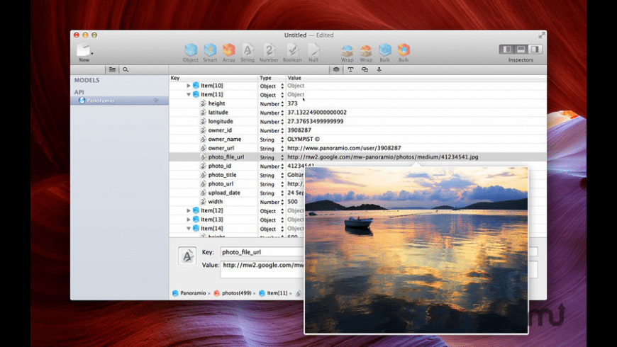 Cocoa JSON Editor for Mac - review, screenshots