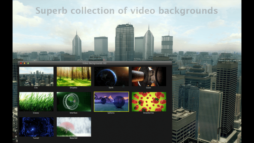 Video Backgrounds HD for Mac - review, screenshots