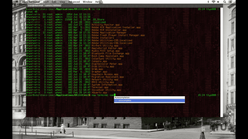 Zeus Terminal for Mac - review, screenshots