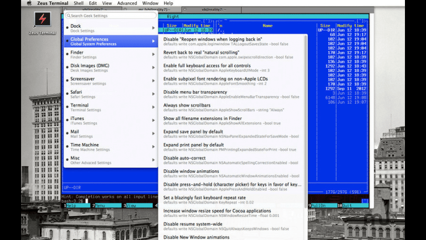 Zeus Terminal for Mac - review, screenshots