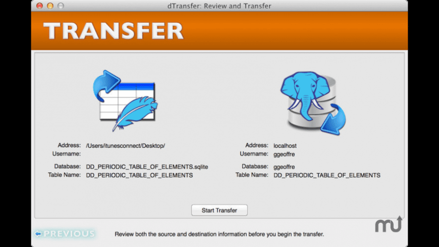 dTransfer for Mac - review, screenshots