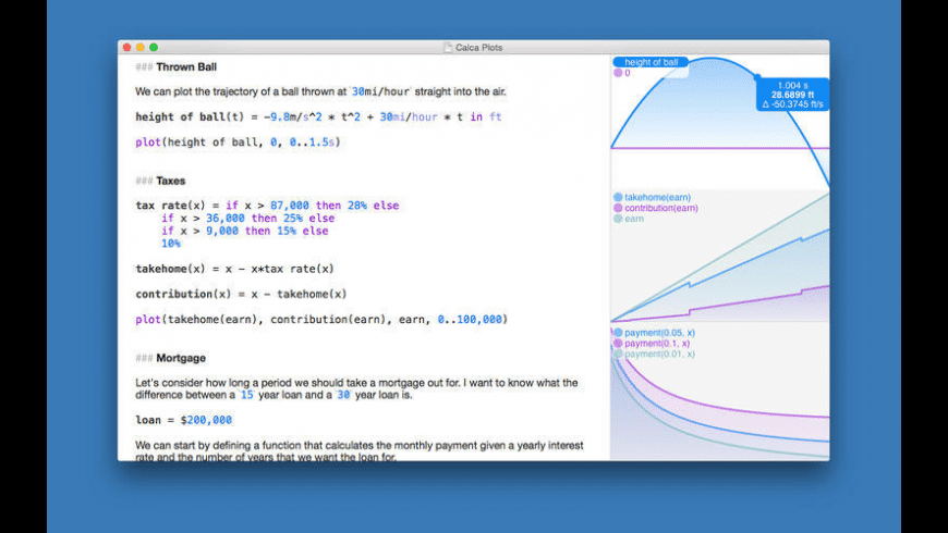 Calca for Mac - review, screenshots