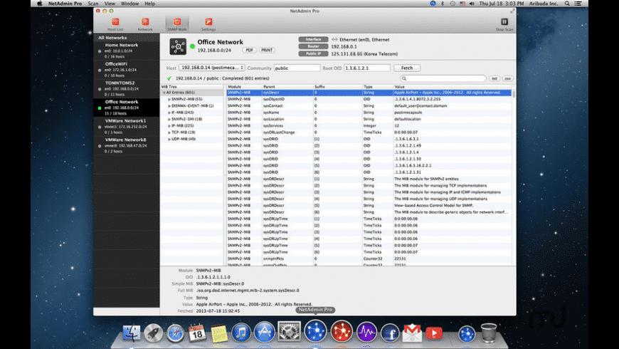 NetAdmin Pro - network scanner for Mac - review, screenshots