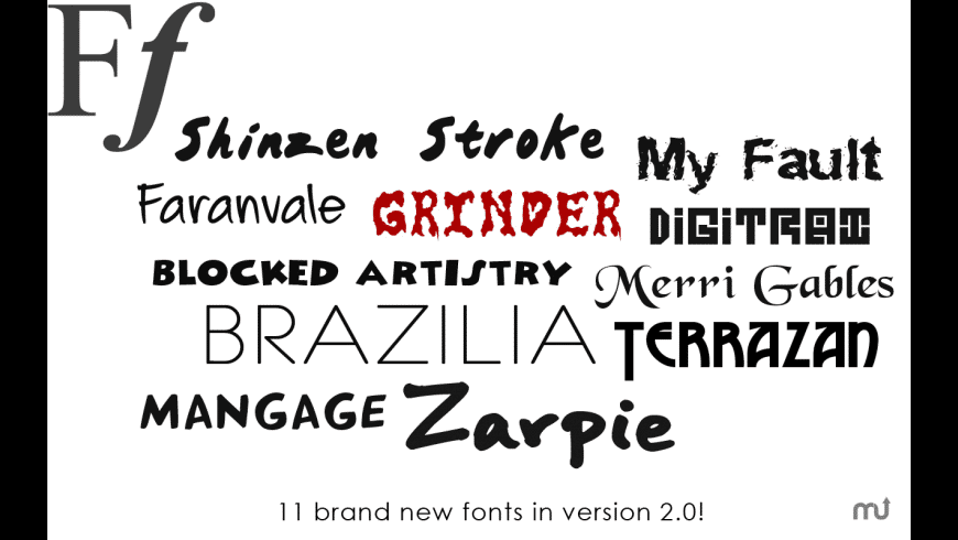 Free Fonts for Mac - review, screenshots
