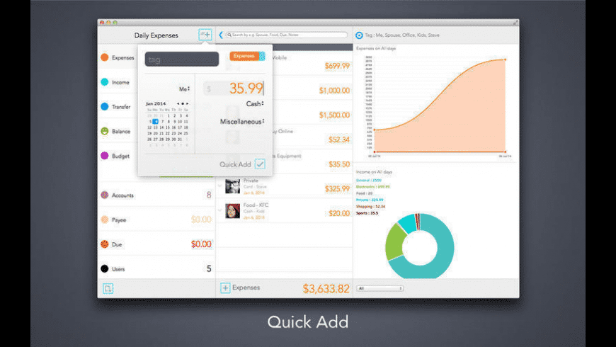 Daily Expenses for Mac - review, screenshots