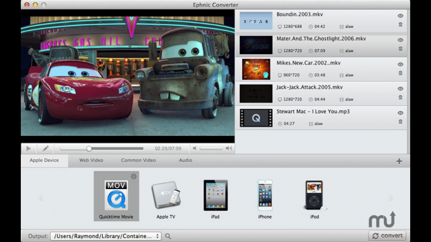 Ephnic Video Converter for Mac - review, screenshots