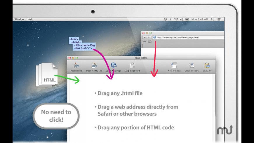 Strip HTML for Mac - review, screenshots