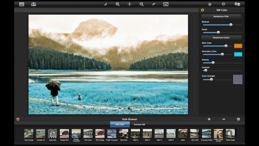 NIR Color for Mac - review, screenshots