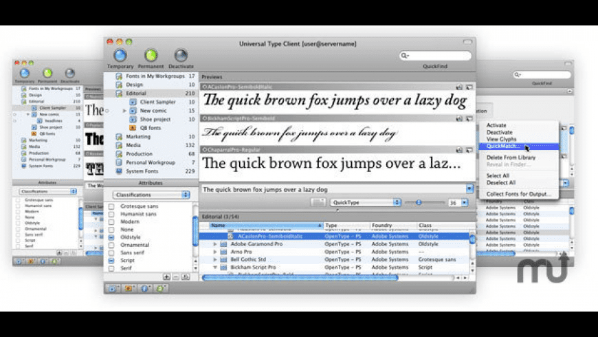 Universal Type Client for Mac - review, screenshots