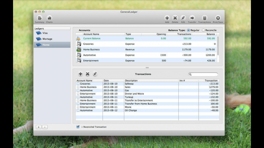 GeneralLedger for Mac - review, screenshots