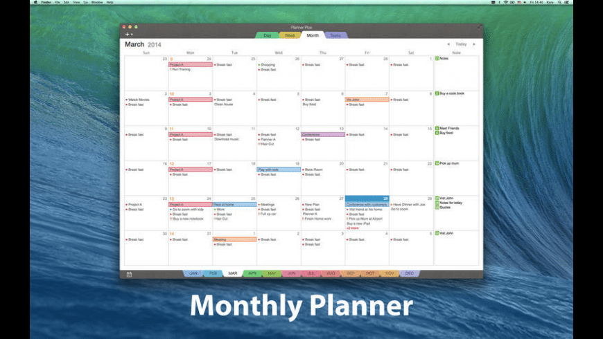 Planner Plus for Mac - review, screenshots