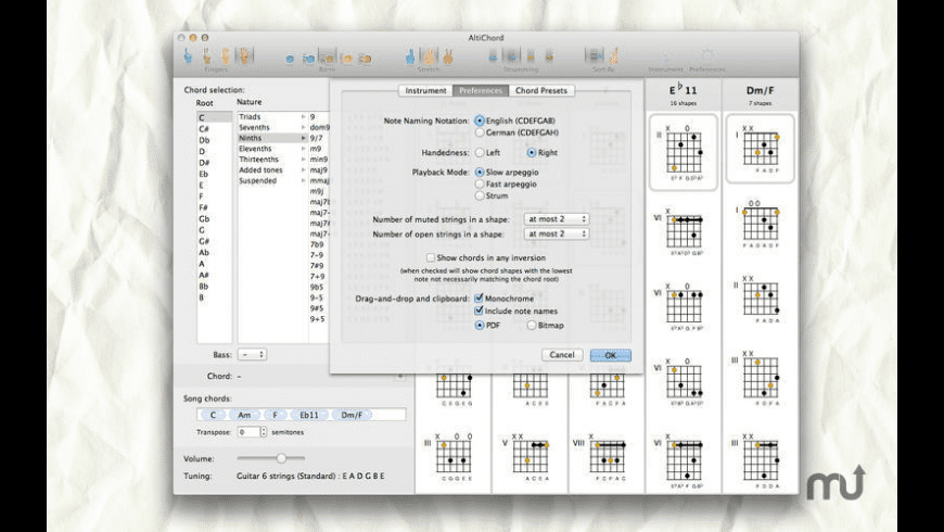 ChordAid for Mac - review, screenshots