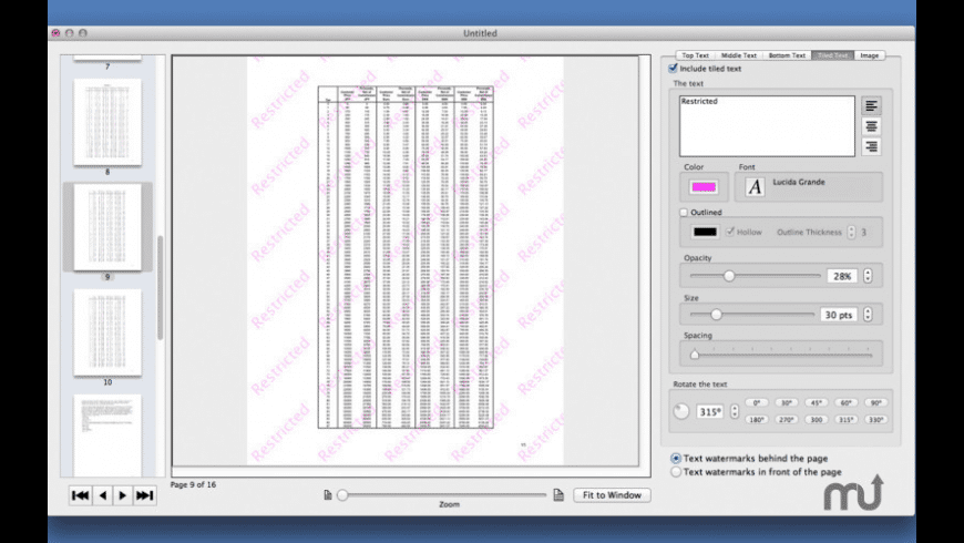 PDF Multi Watermarker for Mac - review, screenshots