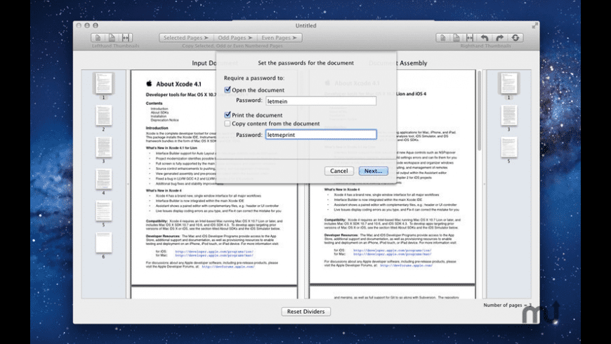 PDF Assemble for Mac - review, screenshots