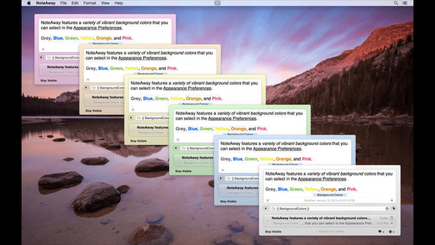 NoteAway for Mac - review, screenshots