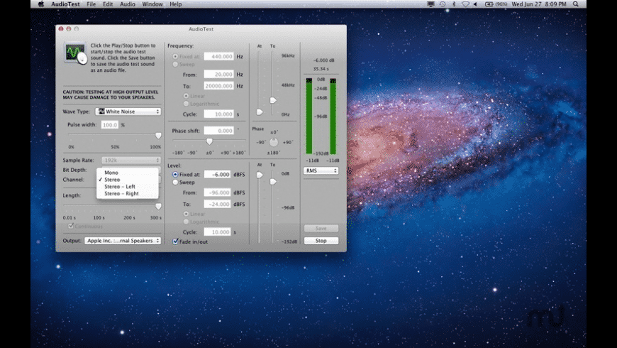 AudioTest for Mac - review, screenshots