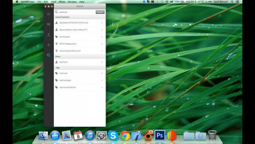 Instalicious for Mac - review, screenshots